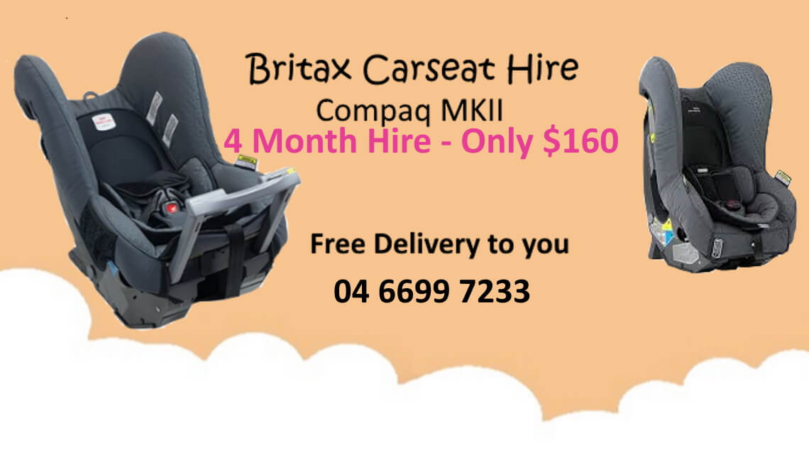 Britax toddler car seat hire
