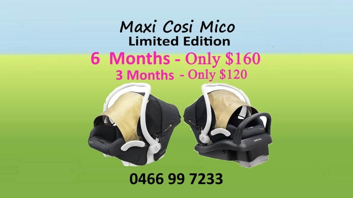 Maxi-cosi mico limited edition Capsule hire 6month only $160